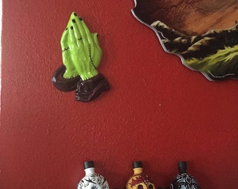 The Praying Hands of Saint Frankenstein Wall Hanging ~ Custom Made to Order