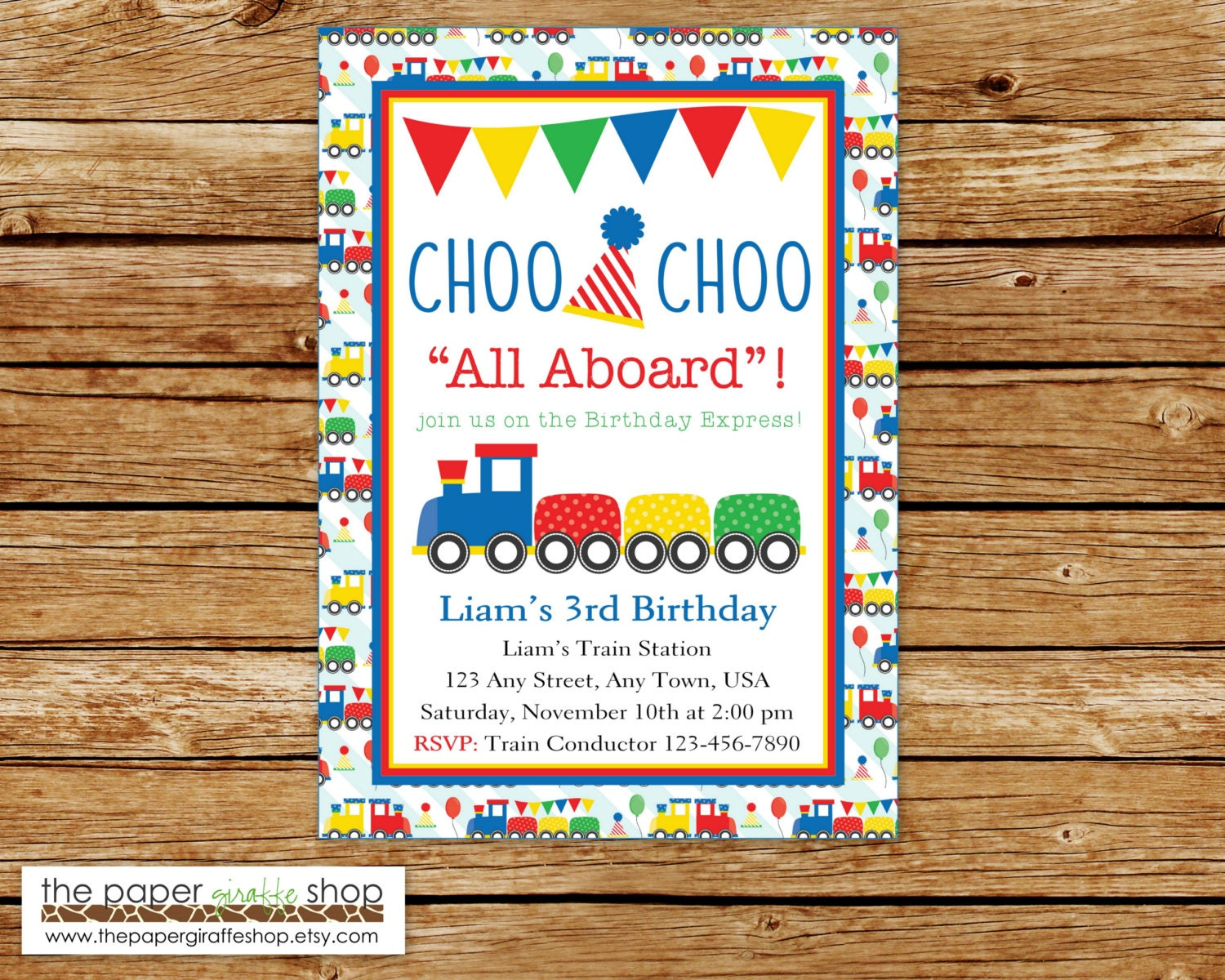 Train Birthday Invitation Train Invitation Train Birthday