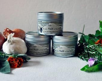Fleur de Sel, Organic Herbs, Gourmet Seasoning, Vegan, Vegetarian, Infused Salt, Sea Salt, Seasoning Blend, Culinary Herbs - 3 tins