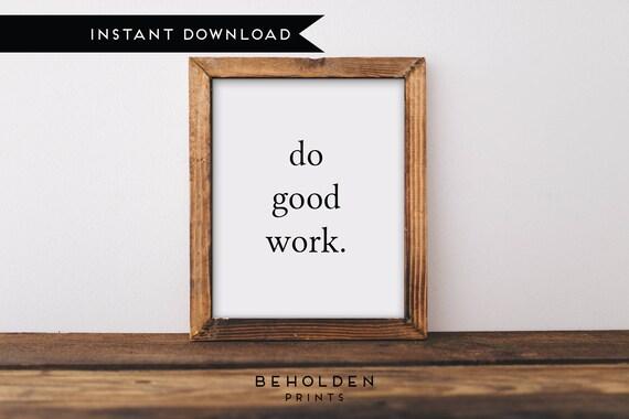Merveilleux Printable, Do Good Gift, Do Good, Office Decor, Office Gifts, Office Art,  Office Wall Art, Office Wall Decor, Student Gift, Digital Download