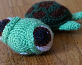 Crocheted Stuffed Turtle