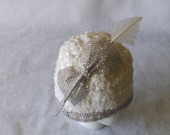 White Ladies Church Hat, White Church Hat, White Designer Church hat, White Formal Church hat, Special Occasion Hat, Mother of the Bride hat