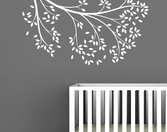 White Reaching Branch Wall Decal by LittleLion Studio