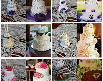 Wedding Cake Replica Made to Order Mini Cake Custom Ornament Anniversary Gift