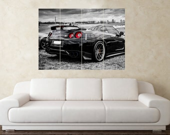Large Nissan Skyline GTR R35 32 33 34 Drift Car Wall Poster Art Picture  Print