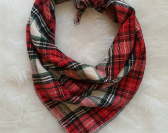 Red Tartan Plaid //Dog Bandana