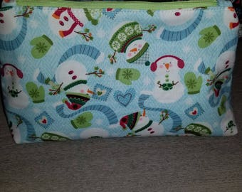 Christmas cosmetic bags, holiday bags, gifts for her