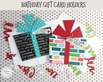 KITS Celebrate! Birthday Gift Card Holder / Cash for Birthdays / Credit Card Holder / Birthday Gifts / Happy Birthday / Birthday Present