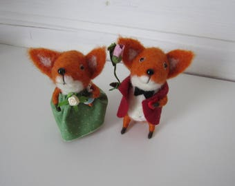 Fox wool toy Animal felted pet fox decor animal Toy wool Baby animal felt Wool baby animal Miniature decor Felt needle red fox