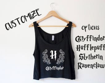 Customizable House Crop Tank - by So Effing Cute - Inspired by HP - Choose your House