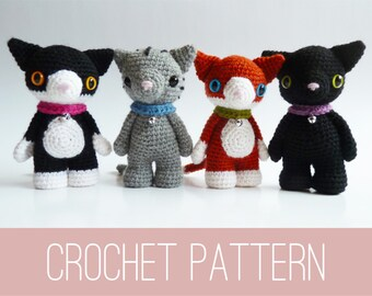 Amigurumi  PATTERN crochet your own cat doll PDF, cat toy pattern, cat pattern, amigurumi pattern, PDF pattern