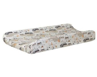 Changing Pad Cover | Woodland Oak