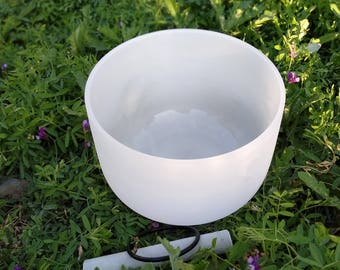 """NEW Frosted Quartz Crystal Singing Bowl sound therapy healing Note F, G, A, B, C Size: 6"""", 7"""" or 8"""" inch"""