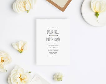 Wedding Invitation Sample - The Sarah Suite