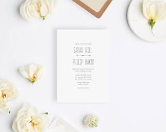 Wedding Invitation Sample - The Sarah Suite