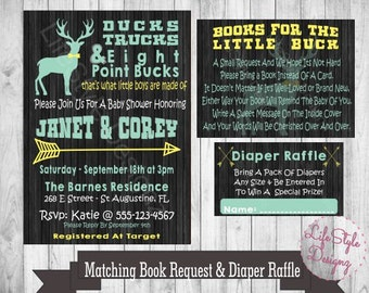 Rustic Baby Shower - Its A Boy - OH Deer - Baby Shower Invitation - Boy Baby Shower - Deer Baby Shower - Hunting Baby Shower - Printable