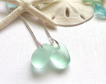 Sea Glass Necklace Ocean Colors Genuine Beach Glass Jewelry
