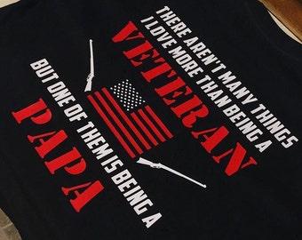 Papa/Dad/Uncle/Mom Veteran Shirt