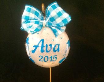 Christmas ornament for cheerleaders, Cheerleader ornament, Ornament for cheerleaders, personalized cheerleader ornament