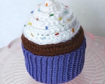 Cupcake plush, stuffed cupcake, amigurumi cupcake, crochet cupcake, toy cupcake