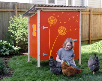 The Basic Coop Stand-Alone Chicken Coop Plan eBook (PDF), Instant Download, Imperial & Metric Units (Feet/Inches and Millimeters)