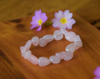 Rose Quartz love receive-healing stone-darling-gift for you-gemstone bracelet-Natural gift-pink gem stone