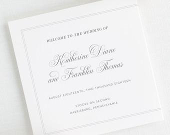 Simply Classic Wedding Programs - Deposit