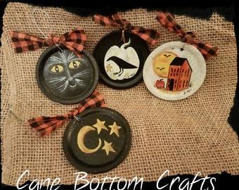 Halloween Jar Lid Ornaments