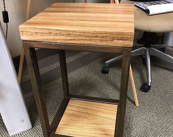 Captivating Zebra Wood Accent Table