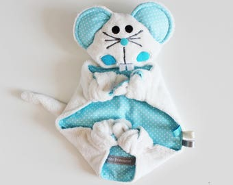 Cuddly plush mouse minkee and cotton. Available.