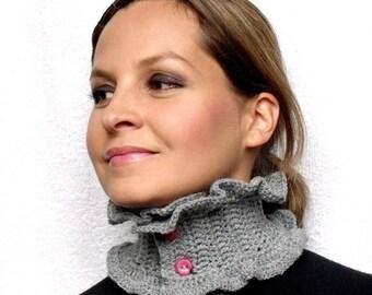 Grey Neckwarmer PDF Crochet Pattern