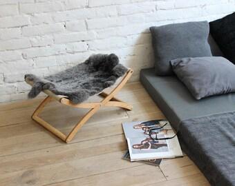 Cat hammock - X cat bed (Lapin). Cat furniture, cat beds, cat hammock bed, pet beds, pet furniture, cat lounge, modern cat furniture