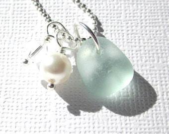 Wedding Sea Glass Jewelry  Beach Wedding Necklaces Garden Leaf Seaside