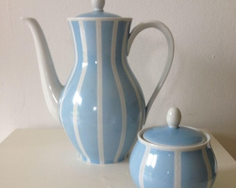 Oscar Schlegel milk pot with lid and sugar can, 50s