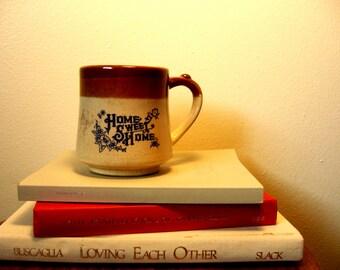 Vintage Home Sweet Home Ceramic Tea Mug