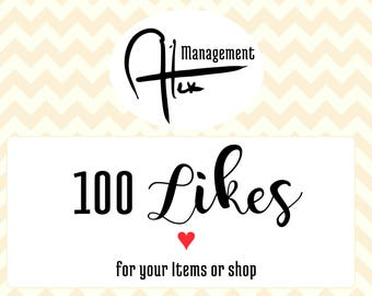 Increase likes on your business, 100 like Promoted listing with like number increase on items or shop Like help for your business visibility