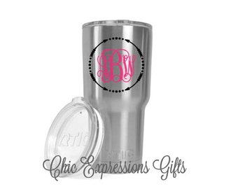 Monogrammed RTIC tumbler - available in 2 sizes