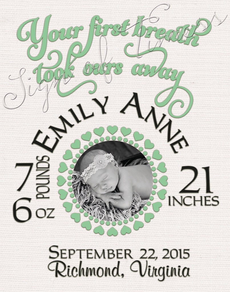 Baby svg frame birth certificate baby gift baby shower zoom aiddatafo Images