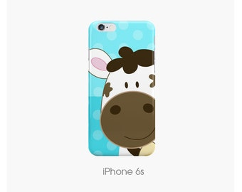 Cutest Cow Phone Case iPhone 6, iPhone 6 Plus, iPhone 6S, iPhone 6S Plus, iPhone 7, iPhone 7 Plus, Samsung Galaxy | Choose Color