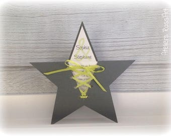 Invitation, baptism or make star birth announcement to customize