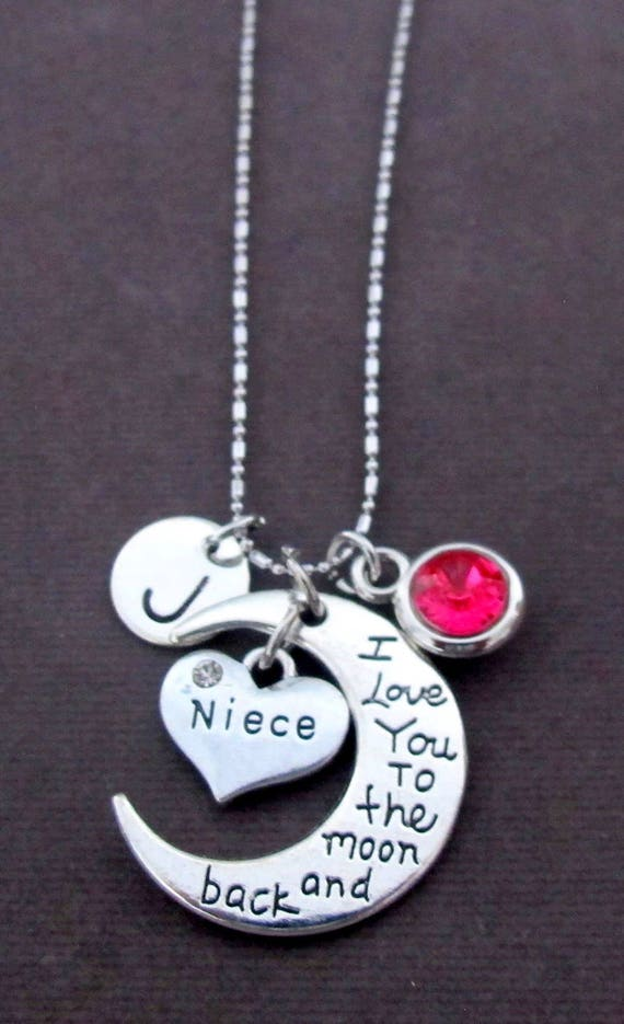 Personalized Niece Necklace,Gift for Niece,I Love You  to the moon necklace, No1 Niece, Best Niece,Special Niece, Free Shipping In USA