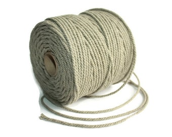 2.5 mm of Elegant Linen Rope - Natural Color = 1 Spool = 55 Yards = 50 Meters
