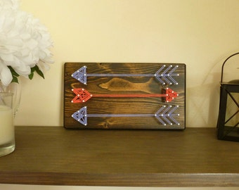 Arrow String Art, Arrow Wall Decor, Tribal Wall Decor