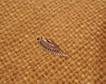 ADD ON: Small Angel wing charm in .925 sterling silver-