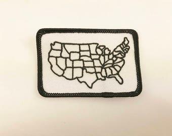 Usa map patch Etsy