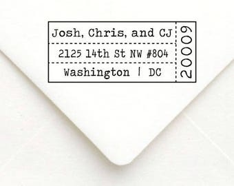 Personalized Self Inking Return Address Stamp - self inking address stamp - Custom Rubber Stamp A30