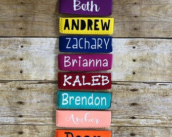 Personalized Popsicle Holders, Party Favors, Summer Fun Popsicle Sleeves, Popsicle Insulators