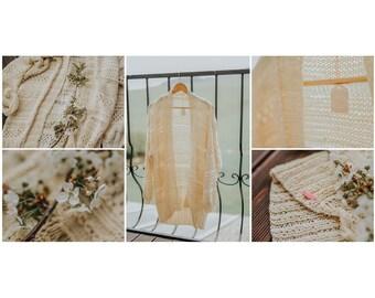 handknit cardigan/summer cardigan/handmade/chunky sweater/romantic/gift/women sweater/