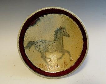 XSm Plate Black Blanket Appaloosa Horse