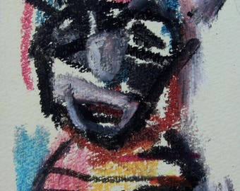 Mini size Original Modern Art Portrait Painting